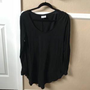 Black long-sleeve shirt